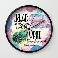 write Wall Clocks featuring Write to Embrace design by Evie Seo