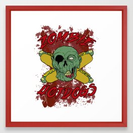 zombie hotdogs Framed Art Print