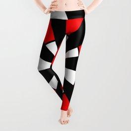 optical pattern 64 Circle red and black Leggings
