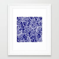 batik Framed Art Prints featuring paisley batik by Ariadne
