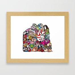 歌舞伎 - JAPANESE KABUKI Framed Art Print
