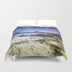 Beach Scene - Mountains, Water, Waves, Rocks - Isle of Skye, UK Duvet Cover