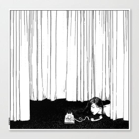 asc 536 - La mise en scène ( I'll be late tonight darling) Canvas Print