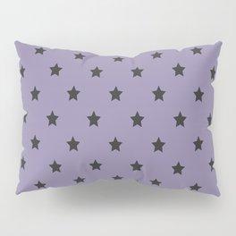 Black stars pattern on purple background Pillow Sham