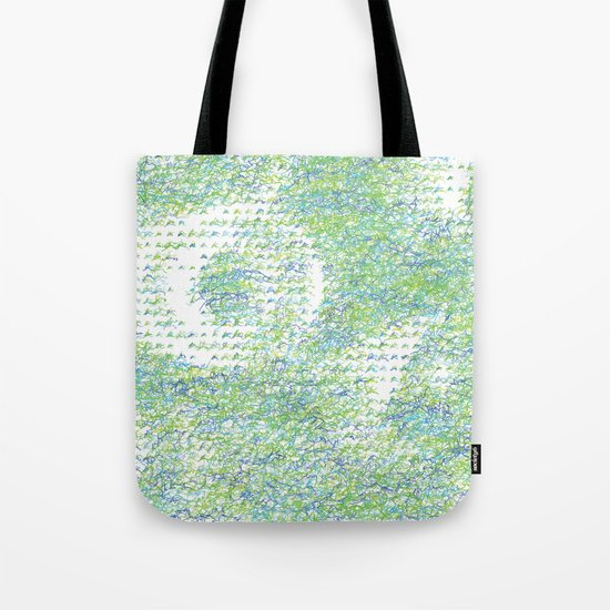 Peacock Feathers Doodle Tote Bag