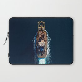 Barge Top View | Aerial Photography  Laptop Sleeve