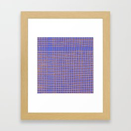 Left - Blue and Orange Framed Art Print