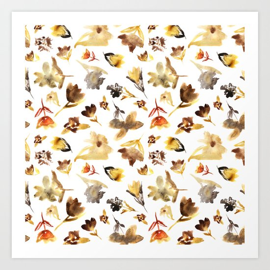 The beauty of dry flowers #2 Art Print