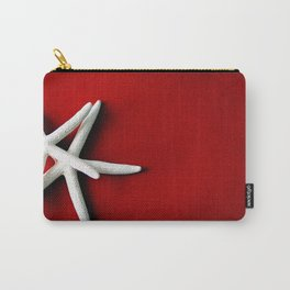 Star Fish on Red Carry-All Pouch