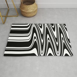 Stripes, distorted 6 Rug