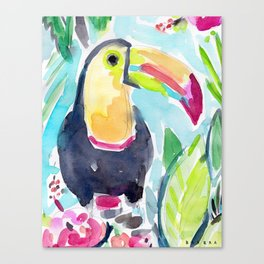 TORY THE TOUCAN Canvas Print