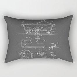 Rocking Oscillating Bathtub Patent Engineering Drawing Rectangular Pillow