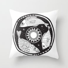 Magic Fish II Throw Pillow