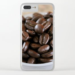 Coffee Beans 2 Clear iPhone Case