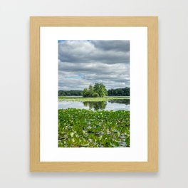reflections in the lake in Kensington park Framed Art Print