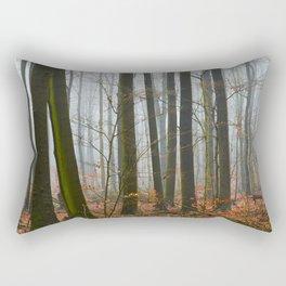 German forest – fog Rectangular Pillow