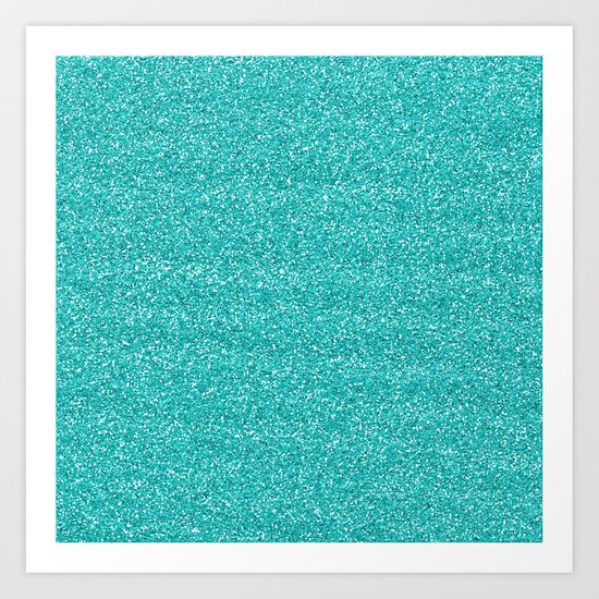 Sea Glitter Art Print