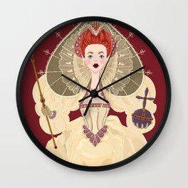 Queen Bess of Spades Wall Clock