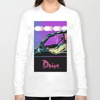 drive Long Sleeve T-shirts featuring Drive by Evil Twin