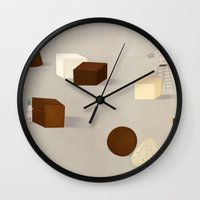 philosophy Wall Clocks featuring CHOCOLATE PHILOSOPHY by makitoy