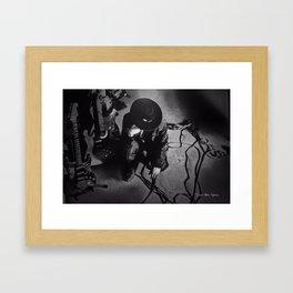 SRV - Decisions - Black and White Framed Art Print