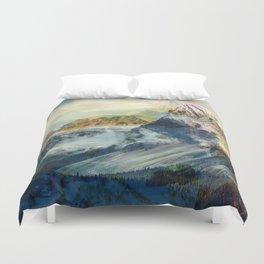 Mountain landscape digital art Duvet Cover