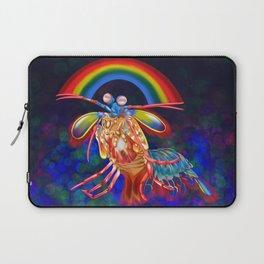 Luminous Mantis Shrimp Hugs Laptop Sleeve