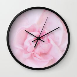 Soft Pink Carnation Wall Clock