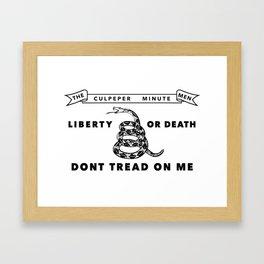 Culpeper Minutemen flag - Authentic version Framed Art Print