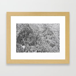 trees on a mountain Framed Art Print