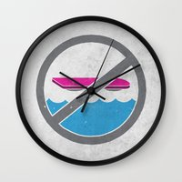 mcfly Wall Clocks featuring MCFLY YOU BOZO color version by jerbing