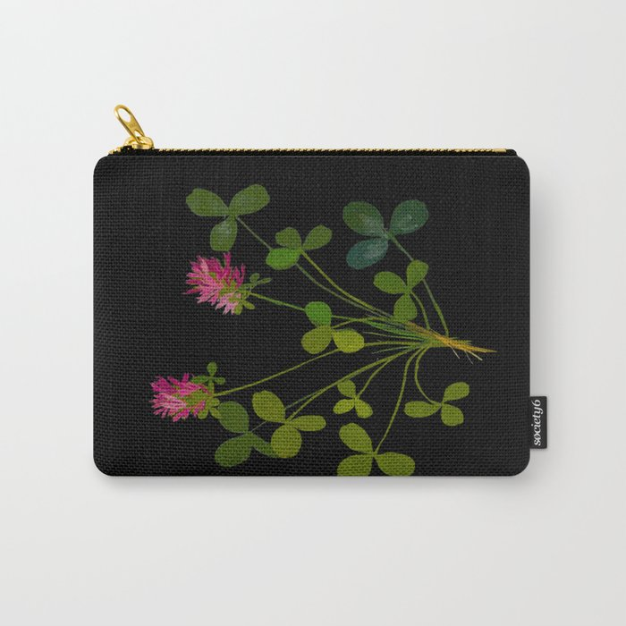 Mary Delany Botanical Vintage Flower Floral Collage Trifolium Pratense Carry-All Pouch