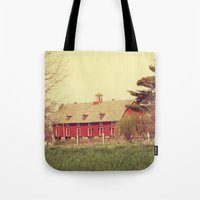 american beauty Tote Bags featuring American Beauty Vol 18 by Farmhouse Chic
