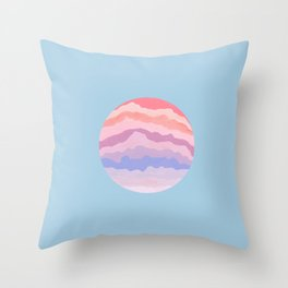 Planetary Deluge | Pastel Space-scape Throw Pillow