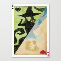 wicked Canvas Prints featuring Wicked by Serena Rocca