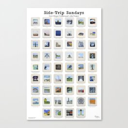 Side Trip Sundays: 52 Weeks of Landscape Watercolor Paintings Canvas Print