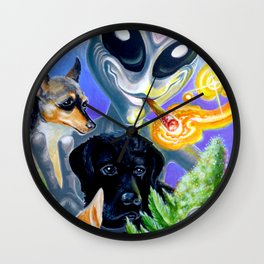 """ Best Buds "" by Adam France Wall Clock"