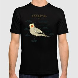 Anatomy of a Cockatiel T-shirt