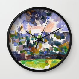 1906 - Paul Cezanne - The Garden at Les Lauves Wall Clock