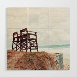Beach Seats Wood Wall Art