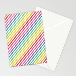 Rainbow Geometric Striped Pattern Stationery Cards