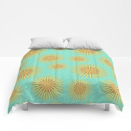 Summer Flowers - Blue Comforters