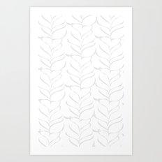 calm breezy ferns Art Print