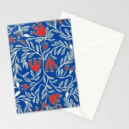 swedish christmas blue Stationery Cards