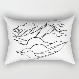 Garibaldi, Squamish :: Single Line Rectangular Pillow