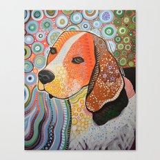 Rocky ... Abstract dog art, Beagle Canvas Print