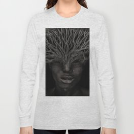 Tree man. Double exposure portrait by T.Amrein Long Sleeve T-shirt