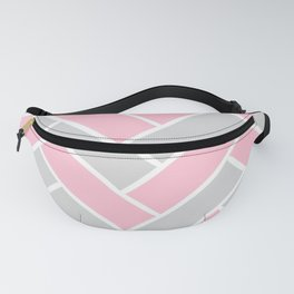 Chevron Pattern Pink and Grey #pink Fanny Pack