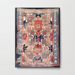 Star Kazak Southwest Caucasus Rug Print Metal Print