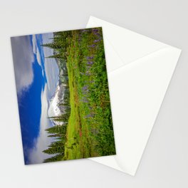 Mt Rainier and Wildflowers Stationery Cards